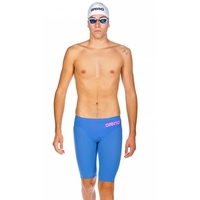ARENA Men's Powerskin R-EVO ONE Jammer Blue Powder Pink, SWIMMING RACE SUIT, MEN'S SWIM RACE JAMMER