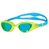 ARENA THE ONE JUNIOR SWIMMING GOGGLES, LIME GREEN / LIGHT BLUE LENS