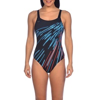 Arena Women's Lia U Back One Piece Swimwear - Black & Multi, Women's Swimsuit