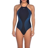 Arena Women's Aura Light Cross One Piece Swimwear - Black & Turquoise, Women's Swimsuit