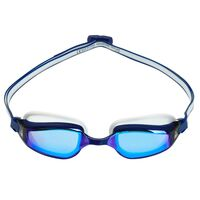Aqua Sphere Fastlane Swimming Goggles, Blue Mirrored Lens - Navy & White, Fitness & Training Goggle