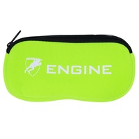 Engine Goggle Pouch Lime Green, Goggle Case, Swimming Goggle Case