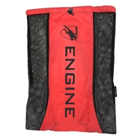 Engine Mesh Swimming Backpack - Red, Mesh Swim Gear Bag