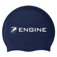 Engine Solid Navy Swim Cap, Swimming Cap, Silicone Swim Cap