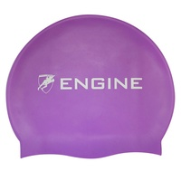 Engine Solid Purple Swim Cap, Swimming Cap, Silicone Swim Cap