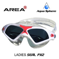 AQUA SPHERE SEAL XP2 LADIES SWIMMING MASK, WHITE & PINK, LADIES SWIMMING GOGGLES