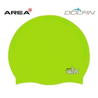 DOLFIN UGLIES LIME SWIM CAP, SWIMMING CAP, SILICONE SWIM CAP