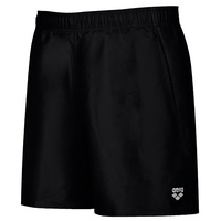 ARENA MEN'S FUNDAMENTAL BOXER SHORTS BLACK / WHITE , MEN'S SWIMWEAR