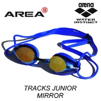 ARENA TRACKS JUNIOR RACING SWIMMING  GOGGLES MIRRORED, BLUE