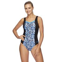 Speedo Women's Contour Scoopback One Piece Swimwear - Cheetah - Black,  Women's Swimsuit