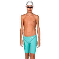 Arena Powerskin ST 2.0 Junior Boys Jammer Aquamarine, Fina Approved Swimming Race Suit, Junior Swim Race Suit
