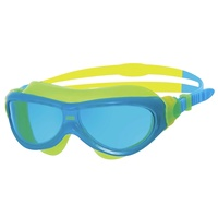 ZOGGS PHANTOM JUNIOR SWIMMING MASK BLUE & YELLOW - AGES 6 - 14 - CHILDREN'S SWIMMING GOGGLES