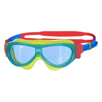 Zoggs Phantom Kids Swimming Mask - Green, Blue & Red - Ages 0 - 6 Years, Children's Goggles
