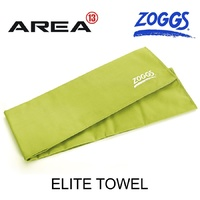 ZOGGS ELITE TOWEL - LIME , DELUXE MICRO-FIBRE ALL PURPOSE SPORTS TOWEL QUICK DRYING