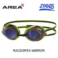 ZOGGS SWIMMING GOGGLES RACESPEX MIRROR, GREEN/BLACK, SWIMMING GOGGLES
