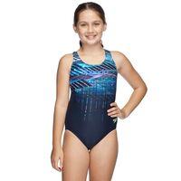 Girls Powerstrike Leaderback One Piece, Dimensions, Girls One Piece Swimwear