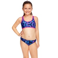 Speedo Girls Two Piece Crop Set Swimwear - Vivid Nights, Girls Two Piece Swimsuit