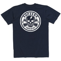SUPzero JOLLY SUP-ER LOGO TEE - BACK PRINT - NAVY - STAND UP PADDLE BOARD TEE