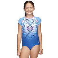 Speedo Girls My Tribe Cap Sleeve Sun Top - Girls Rashie