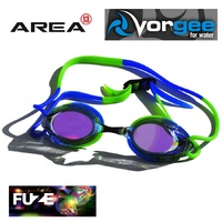 VORGEE MISSILE FUZE SWIMMING GOGGLES, MIRRORED, GREEN & BLUE , SWIMMING GOGGLES