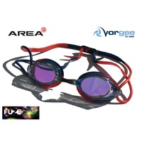 VORGEE MISSILE FUZE SWIMMING GOGGLES, MIRRORED, RED & BLUE , SWIMMING GOGGLES