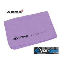 VORGEE AQUA TOWEL PURPLE, SWIMMING TOWEL, CHAMOIS TOWEL, QUICK DRY TOWEL, VORGEE