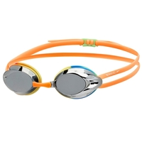 Speedo Opal Mirror Junior Competition Racing Swimming Goggles - Rainbow/ Silver