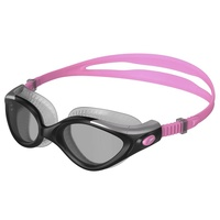 Speedo Futura Biofuse Flexiseal Female Swimming Goggles Galinda Pink/Silver, Smoked Lens