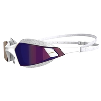 Speedo Aquapulse Pro Mirror Swimming Goggles, White/ Clear/ Purple Gold