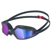 Speedo Hydropulse Mirror Lens Navy/ Oxide Grey/ GOLD Lens, Swimming Goggles