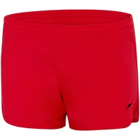 SPEEDO GIRLS WORKOUT SHORTS - SPORT RED - WHITE, GIRLS TRAINING SHORTS