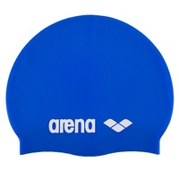 ARENA Junior Bright Blue Classic Silicone Swim Cap, Kids Swim Cap, Childrens Swim Cap
