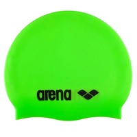 ARENA Junior Lime Green Classic Silicone Swim Cap, Kids Swim Cap, Childrens Swim Cap