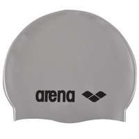 ARENA Junior Silver Classic Silicone Swim Cap, Kids Swim Cap, Childrens Swim Cap