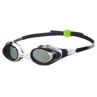 ARENA SPIDER JUNIOR SWIMMING GOGGLES, BLACK & WHITE, CHILDREN'S SWIMMING GOGGLES