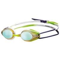 ARENA TRACKS SWIMMING  GOGGLES, PURPLE / GREEN / YELLOW / MIRROR LENS