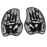 ARENA VORTEX EVOLUTION HAND PADDLES SILVER/BLACK, SWIMMING HAND PADDLES