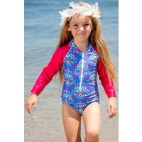 Sun Emporium Baby Girls Frida Long Sleeve Swimsuit, Toddler Girls Swimwear
