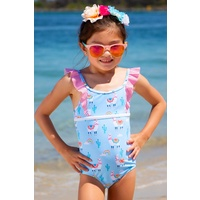 Sun Emporium Baby Girls Bahama Lama Swimsuit, Toddler Girls Swimwear