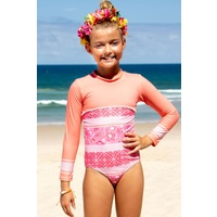 Sun Emporium Girls Indian Summer Long Sleeve Swimsuit, Girls Swimwear