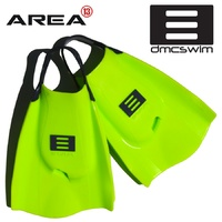 DMC Swim Fins Fluoro / Charcoal Strap - Swim Training Fins / Swimming Flippers