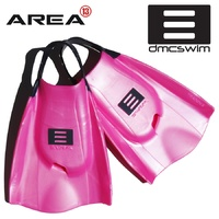 DMC Swim Fins Hot Pink / Charcoal Strap - Swim Training Fins / Swimming Flippers