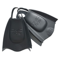 DMC Elite 2 Swim Fins Graphic Series - Carbon Print - Swimming Training Fins - Swimming Flippers