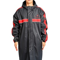 Engine Hooded Swimming Deck Parka Red Stripe, Swim Deck Coat