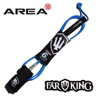 FAR KING 6ft COMP Surfboard Leg Rope / Surfboard Leash BLUE CLEAR