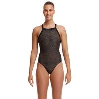 Funkita Women's Leather Skin Sky Hi One Piece Swimwear, Women's Swimsuit