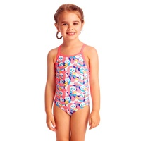 FUNKITA PINK PANDA TODDLER GIRLS ECO PRINTED ONE PIECE SWIMWEAR , TODDLER GIRLS ONE PIECE SWIMSUIT