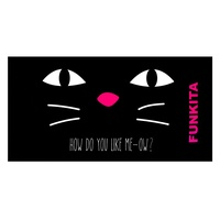 Funkita Meow Towel , Beach Towel , Swim Towel, Cotton Towel - Funkita