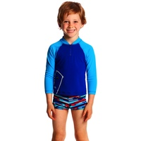 Funky Trunks Bear Grills Zippy Rash Vest Toddler Boys , Suntop