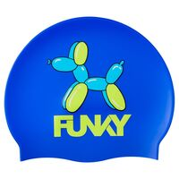 Funky Balloon Dog Swim Cap, Swimming Cap, Silicone Swim Cap